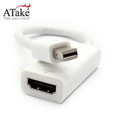 【ATake】MiniDisplayport轉HDMI轉接線/線長20.5cm / AMINIDP-HDMI