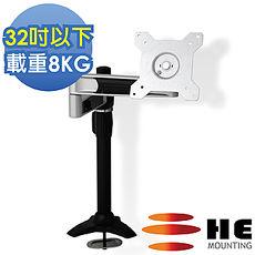 HE 32吋以下LED/LCD鋁合金雙懸臂插孔型支架(H210TI)