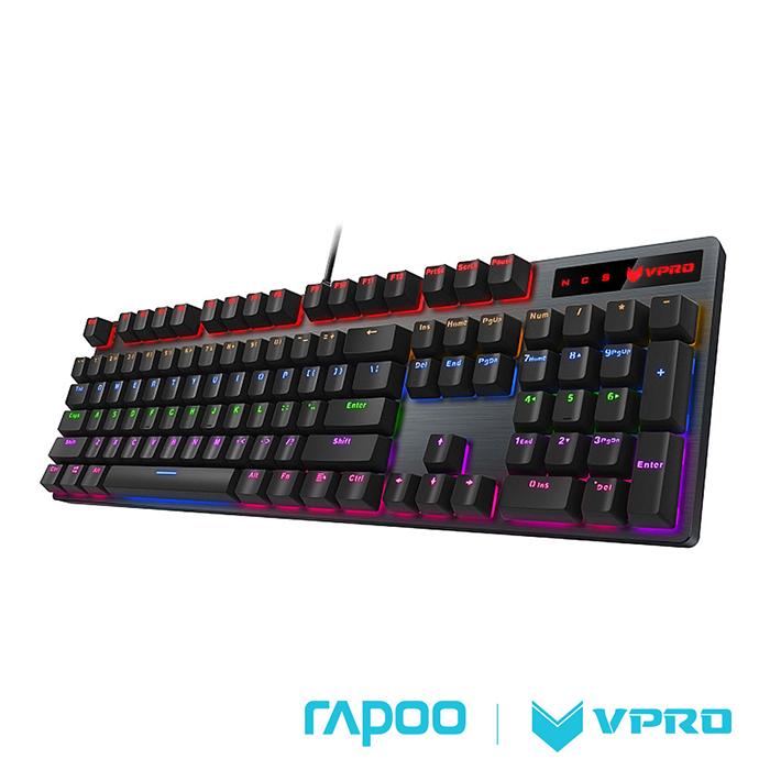 Rapoo 雷柏VPRO V500PRO 青軸 混色發光機械遊戲鍵盤