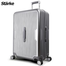 德國設計Starke 萊茵 28吋PC+ABS耐撞TSA海關鎖拉鏈行李箱/旅行箱-銀色