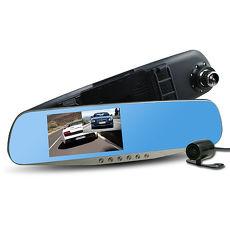 行走天下 CR05 雙鏡頭後視鏡行車記錄器-加贈16G記憶卡