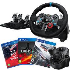 《PS4專用》羅技G29力回饋賽車方向盤+換擋變速器+賽車遊戲選一