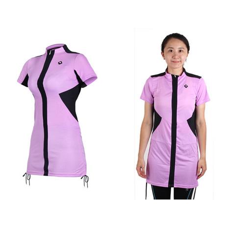 【SOGK】女伊奧文連身裙-短袖車衣 單車 自行車 淺紫