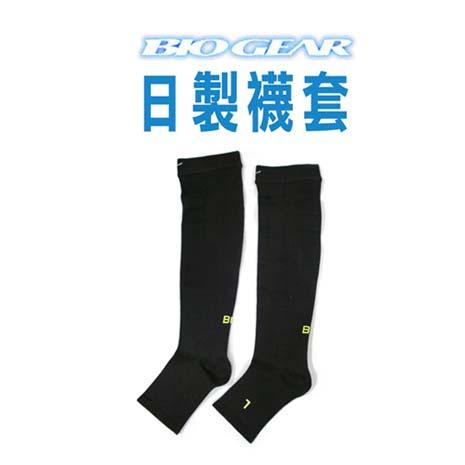 【MIZUNO】日本製-BG 襪套-慢跑 襪子 美津濃 黑芥末綠
