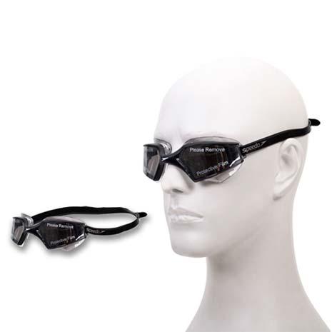 【SPEEDO】AQUAPULSE MAX 2成人進階型泳鏡-游泳防霧抗UV 黑白F