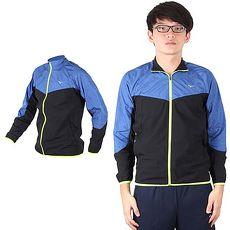 【MIZUNO】男路跑風衣 - 慢跑 立領外套 運動外套 美津濃 黑藍