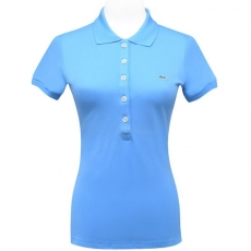 LACOSTE 天空藍鱷魚標誌短袖POLO衫【USA 2號】