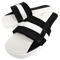 BALLY 織帶厚底涼鞋-39.5號(黑白)