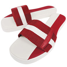 BALLY 織帶厚底涼鞋-39號(紅白)