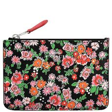 COACH 花朵圖樣PVC鑰匙零錢包-粉紅色(特賣)
