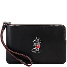 COACH Disney米奇烙印手拿包-黑色(特賣)