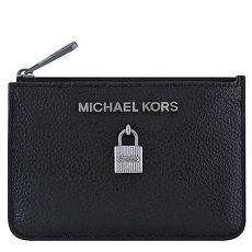 MICHAEL KORS Adele 牛皮鎖頭鑰匙零錢包-黑色