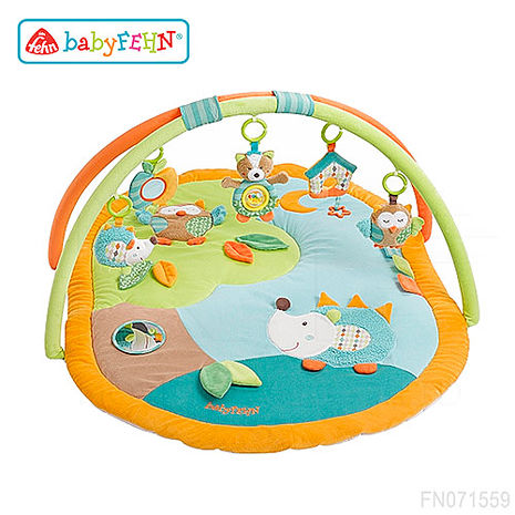 德國《baby FEHN 芬恩》沉睡森林動物布偶立體遊戲墊
