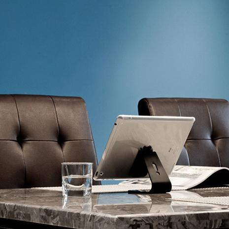 無痕強力吸附式 iPad 平板手機萬用支架桌架-黑色