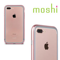 {原廠公司貨}MOSHI Luxe for iPhone 8 / 7 Plus 雙料金屬邊框(玫瑰粉)