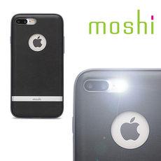 {原廠公司貨}MOSHI Napa for iPhone 8 / 7 Plus 皮革雙料保護背殼(炭黑)