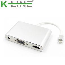 k-Line Apple影音傳輸線 iPhone/iPad to HDMI VGA MHL(銀)