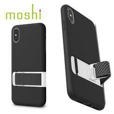 {原廠公司貨}Moshi Capto iPhone XS Max 指環支架織帶保護殼