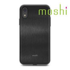 {原廠公司貨}Moshi iGlaze iPhone XR 時尚髮絲紋保護殼- 騎士黑
