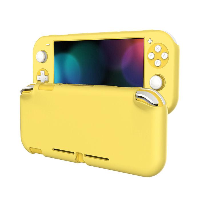 Nintendo 任天堂 Switch Lite 霧面磨砂全包覆保護套黃