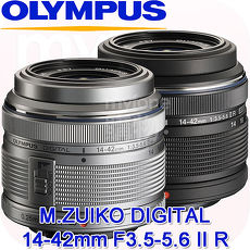 Olympus M.ZUIKO DIGITAL 14-42mm F3.5-5.6 II R標準變焦鏡頭(公司貨)贈UV銀