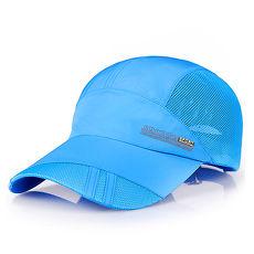 活力揚邑》防曬輕薄涼感吸濕排汗透氣速乾棒球帽鴨舌帽-潮流寶藍