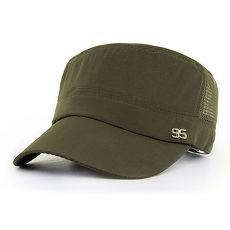 活力揚邑》防曬涼感速乾吸濕排汗潮流軍帽平頂帽-潮流軍綠