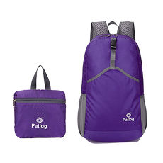 活力揚邑》23L超輕防水耐磨折疊式收納運動登山自行車路跑旅遊萬用寬肩帶後背包-紫色