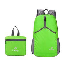 活力揚邑》23L超輕防水耐磨折疊式收納運動登山自行車路跑旅遊萬用寬肩帶後背包-蘋果綠色