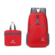 活力揚邑》23L超輕防水耐磨折疊式收納運動登山自行車路跑旅遊萬用寬肩帶後背包-紅色