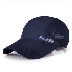 活力揚邑》防曬輕薄涼感吸濕排汗透氣速乾棒球帽鴨舌帽-活力深藍