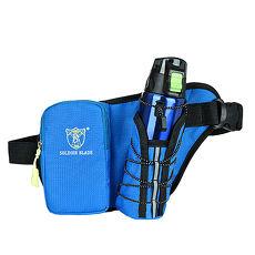 活力揚邑》多功能防潑水耐磨戶外運動登山旅遊自行車路跑萬用水壺腰包X寶藍色