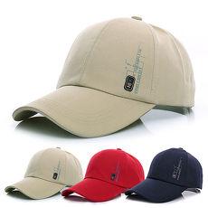活力揚邑》防曬透氣徽章棒球帽時尚百搭戶外運動帽遮陽帽鴨舌帽