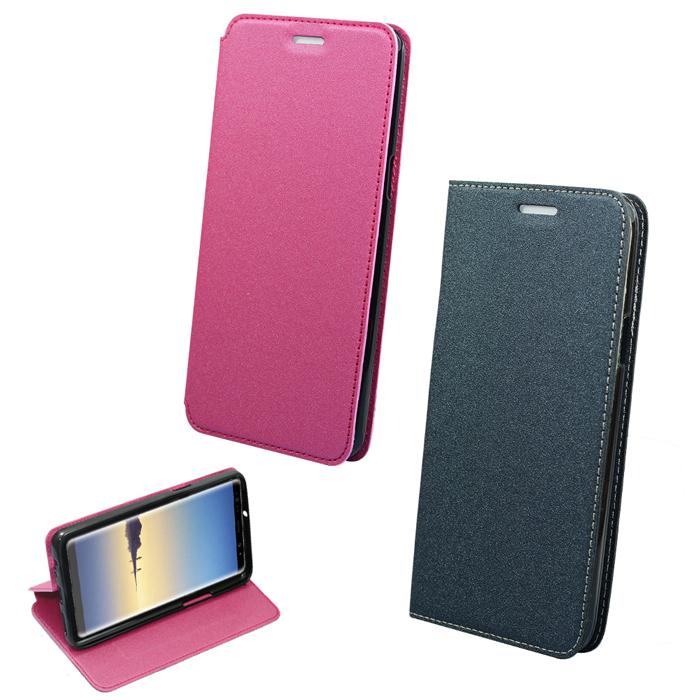 YANG YI 揚邑》Samsung Galaxy Note8 6.3吋 金沙純色車線側立隱藏磁扣皮套灰