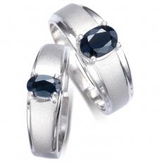 【雅紅珠寶】真情相愛天然1克拉/0.5克拉藍寶石對戒-活圍設計