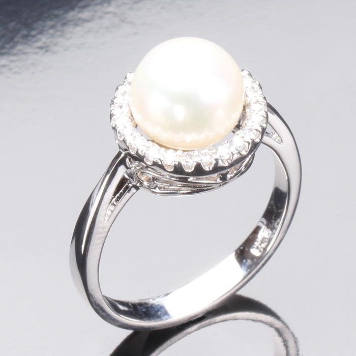 (預購)【雅紅珠寶】優雅典藏天然珍珠戒只-925純銀飾