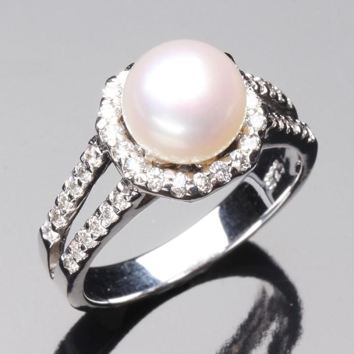 (預購)【雅紅珠寶】珍愛天然淡粉珍珠戒只 -925純銀飾
