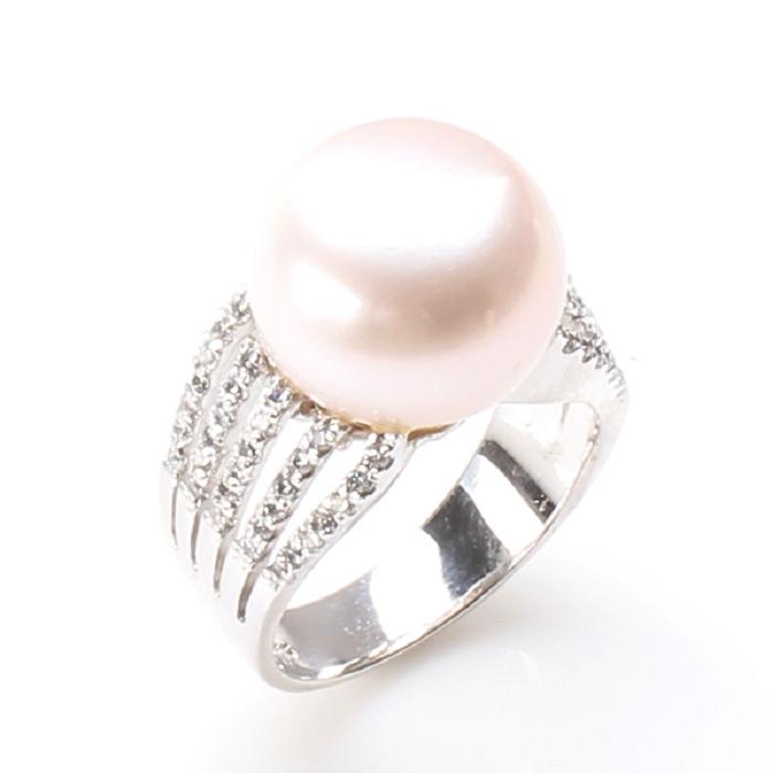 (預購)【雅紅珠寶】眾星拱月天然珍珠戒只-925銀飾