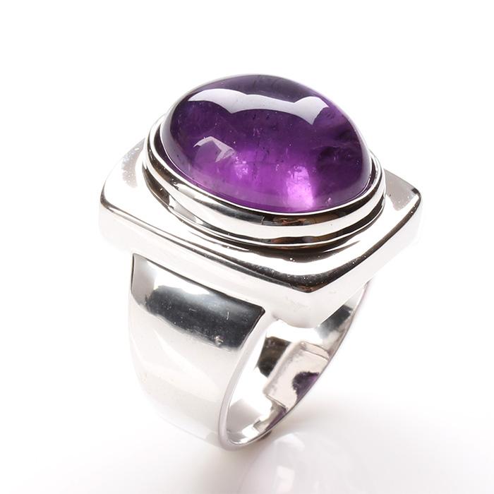 (預購)【雅紅珠寶】金印紫授天然紫水晶戒-925銀飾13