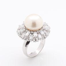 (預購)【雅紅珠寶】天然珍珠戒只-925銀飾-高貴優雅