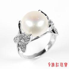 (預購)【雅紅珠寶】天然珍珠戒指-鳥語花香-925銀飾