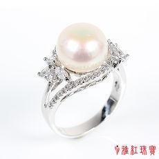 (預購)【雅紅珠寶】天然珍珠戒指-925銀飾-大家閨秀