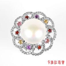 (預購)【雅紅珠寶】天然珍珠戒指-花團錦簇-925銀飾