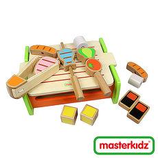 【Masterkidz】木製燒烤爐玩具