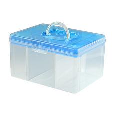 【ESONA易收納】FUN貝兒手提箱 - A4加高款粉藍