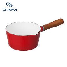 CB Japan 北歐系列琺瑯原木單柄牛奶鍋