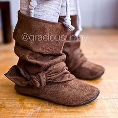 【瑞瑞比歐美童裝】美國Gracious May手工寶寶鞋/童鞋/學步鞋/靴子 (卡布溫暖)