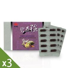【炫煬堂】碧鼎強黑鑽瑪卡鹿茸至尊膠囊(30顆/盒)x3+贈潤滑凝膠(100ML)1入