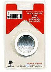 義大利 Bialetti Moka Express 摩卡壺過濾橡圈+過濾片 3杯4杯6杯(3組入)6杯