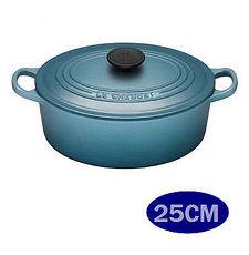 品  LE CREUSET 鑄鐵橢圓鍋 25cm 加勒比海藍 ~APP